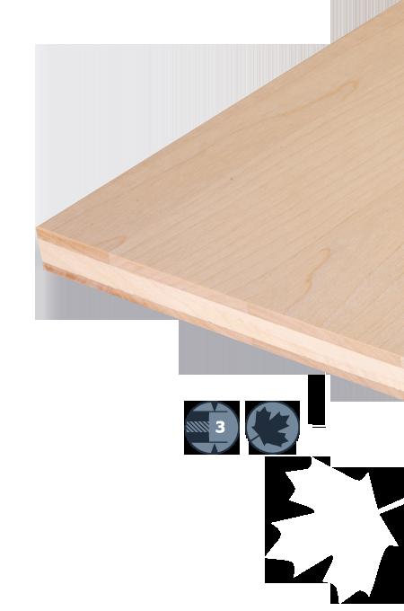 TILLY Płyta trójwarstwowa z drewna liściastego: Klon