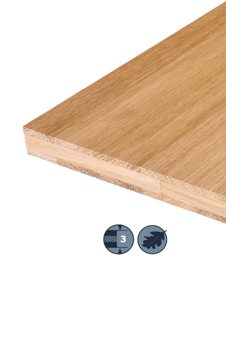 TILLY Three-layer hardwood panel: Oak