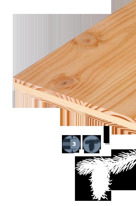 TILLY Pannello a tre strati in legno di conifera: Douglasia