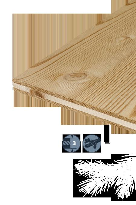 TILLY Pannello a tre strati in legno di conifera: Abete rosso anticato