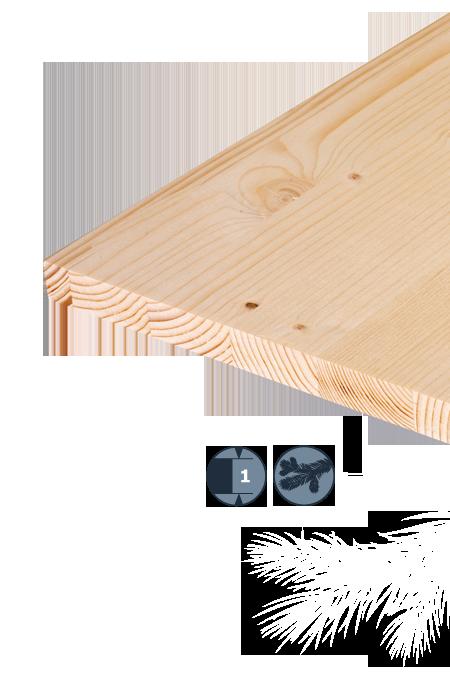 TILLY Enoslojna plošča iz lesa iglavcev: Smreka