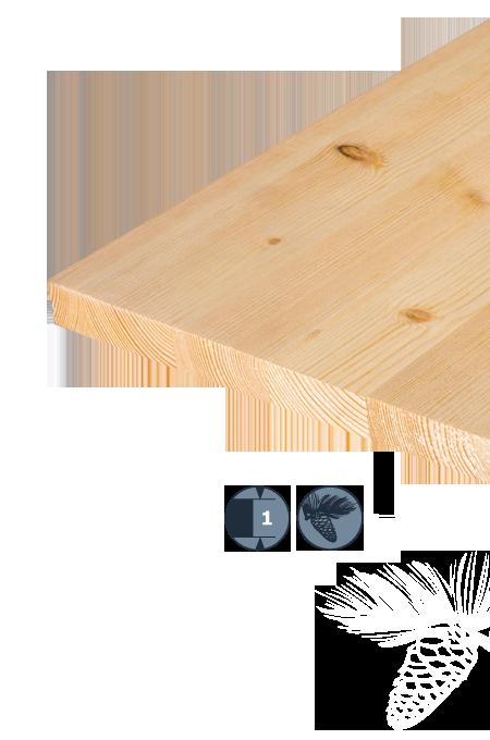 TILLY Enoslojna plošča iz lesa iglavcev: Bor