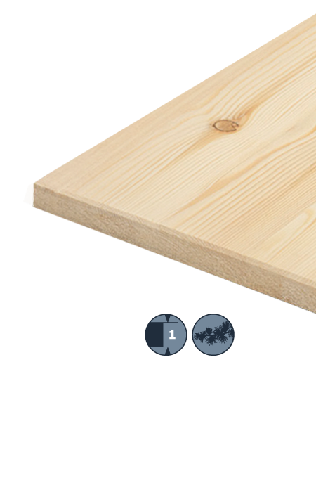TILLY Solid wood panel: Larch siberian
