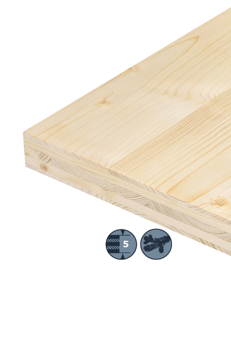 TILLY 5-layer softwood board